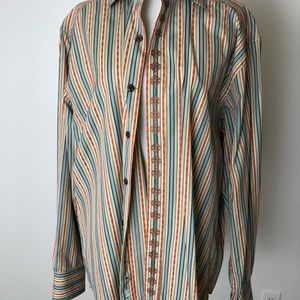 Robert Graham Button Down Shirt Size Large